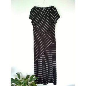 Chico's Travelers Spliced Striped Maxi Dress Sz 1